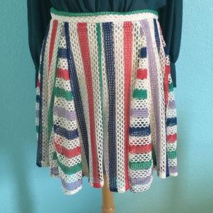 Anthropologie Skirts - Anthropologie | Eva Franco Striped Crochet Skirt